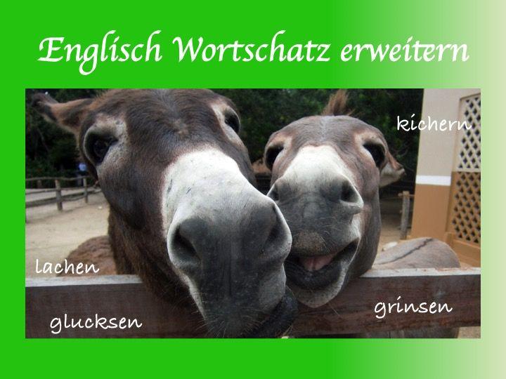 Das Wort lachen auf Englisch. Englisch Vokabeln lernen und Wortschatz erweitern. Englisch lernen und Grundwortschatz erweitern. Englisch lernen Fortgeschrittene.