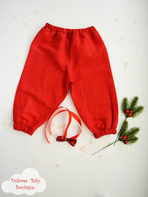 Baby Boy Pants Baby boy bow Baby Red Pants by DoloresBabyBoutique