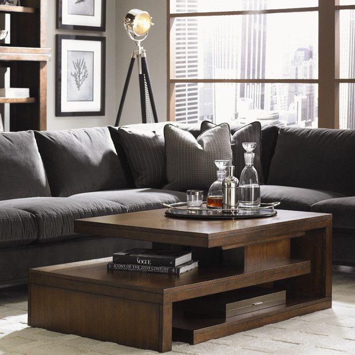 LOVE this wooden coffee table                                                                                                                                                                                 More