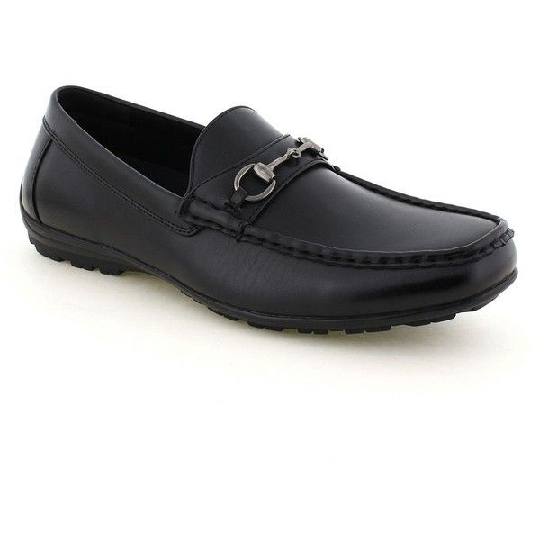 Deer Stags Manual Men's Loafers ($55) ❤ liked on Polyvore featuring men's fashion, men's shoes, men's loafers, black, mens loafers, mens slip on shoes, mens black slip on shoes, mens slipon shoes and mens black loafers shoes