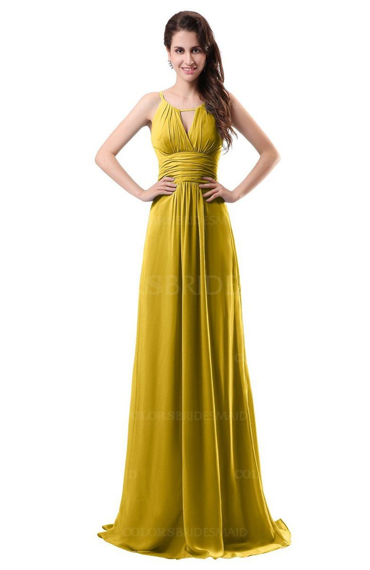 Best 25 lemon bridesmaid dresses ideas on pinterest yellow lemon curry simple column scoop chiffon ruching bridesmaid dresses ombrellifo Images