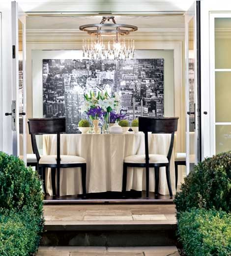 Pin By Susan Swendsen On Great Room: French Doors Open Up This Dining Room To The Terrace