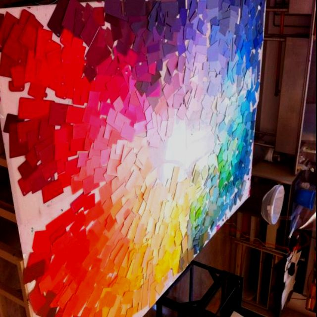 1000 Ideas About Paint Sample Wall On Pinterest Paint Chip Wall Rainbow Wall And Paint