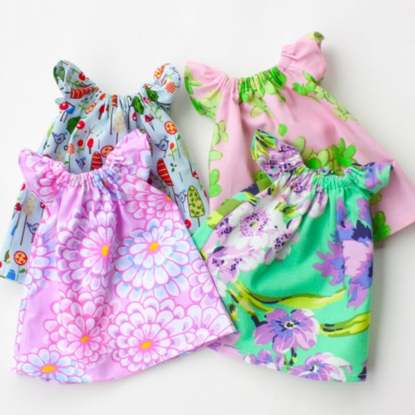 """""""Pretty Peasant Dress"""" PDF Pattern for use with several """"Bit of Whimsy"""" Dolls. $10 at bitofwhimsydolls.com"""