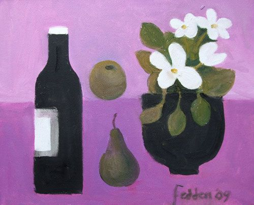 Mary Fedden - The Black Bottle by Mary Fedden 2009