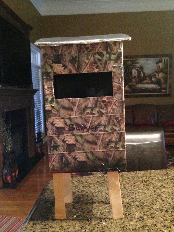valentine box hunting blind diy goodness pinterest