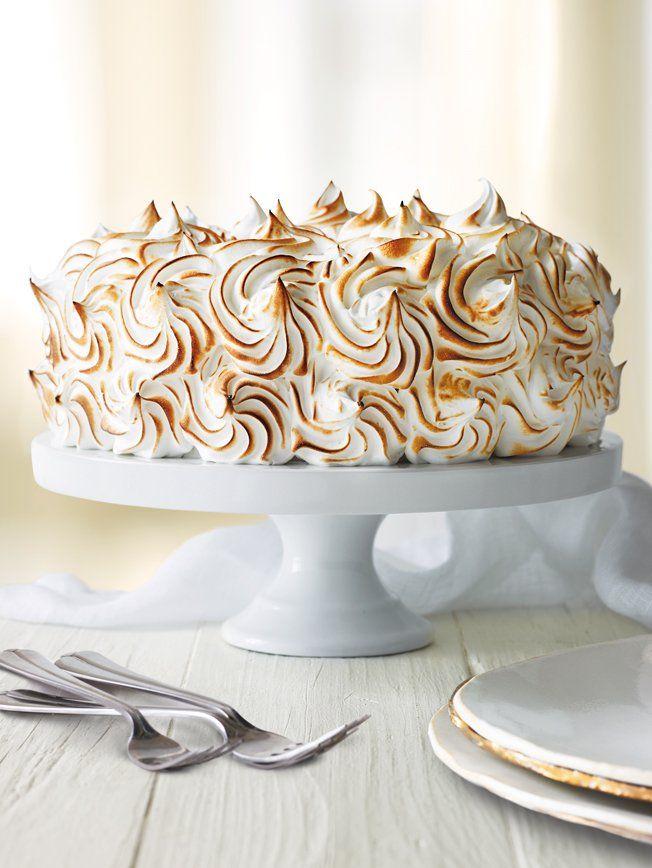 Zitronen-Genoise-Kuchen mit dem Meringe-Bereifen   – Beauty of Food