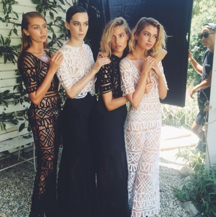 Bridesmaids Inspiration / Monochrome Lace / View more on The LANE