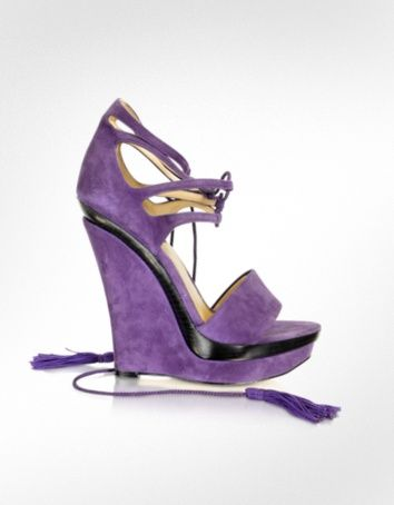 Rachel Zoe Kayne - Purple Suede Wedge um is he designing shoes now?