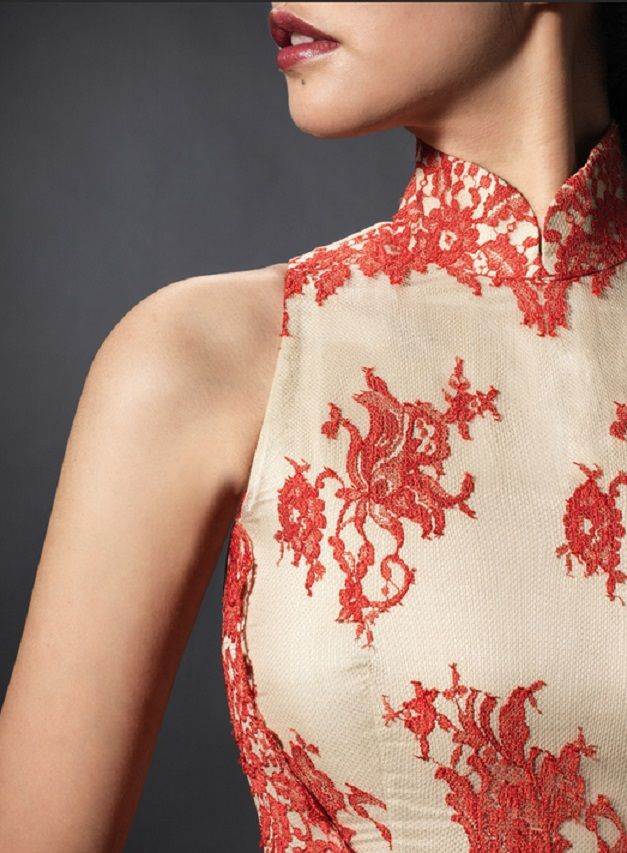 Shanghai Tang qipao lace detail