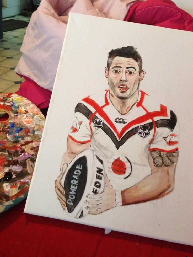 A painting of Shaun Johnson - from @Brandon11692