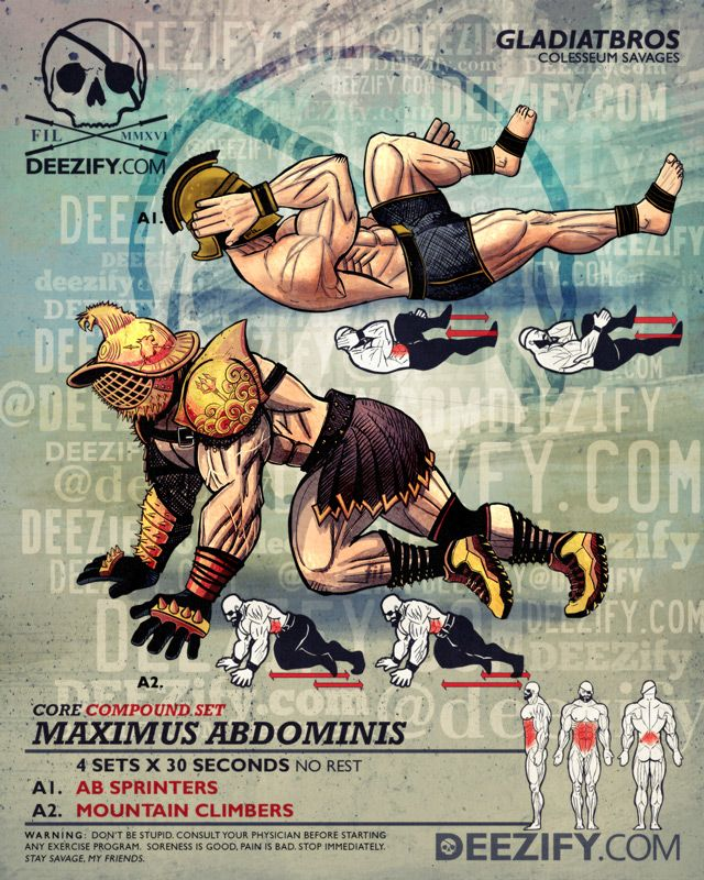 ab exercise: ab superset gladiators