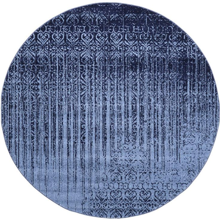 Unique Loom Del Mar Jennifer Blue 8 0 X 8 0 Round Rug