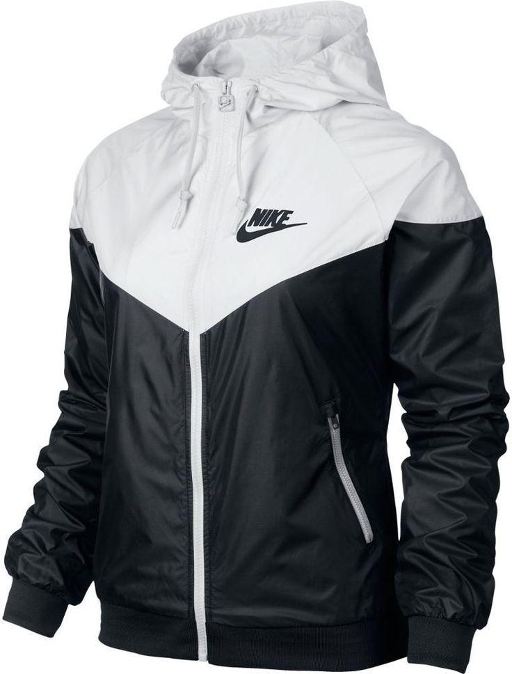 Nike WindRunner Women's Jacket Windbreaker Hoodie Black White 545909-011  #Nike #Windrunner