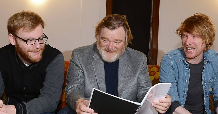 Brendan Gleeson with his 1st and 3rd of 4 sons Brian Gleeson and Domhnall Gleeson.