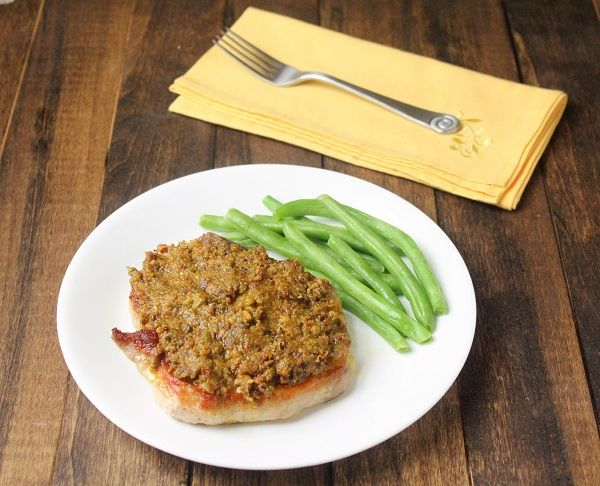Pistachio and Herb Tapenade Pork Chops (Low Carb and Paleo) | Living ...