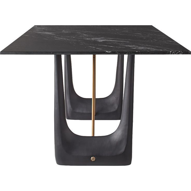Rocco Rectangular Marble Dining Table By Caleb Zipperer Tablefurniture Dining Table Marble Marble Dining Dining Table Black