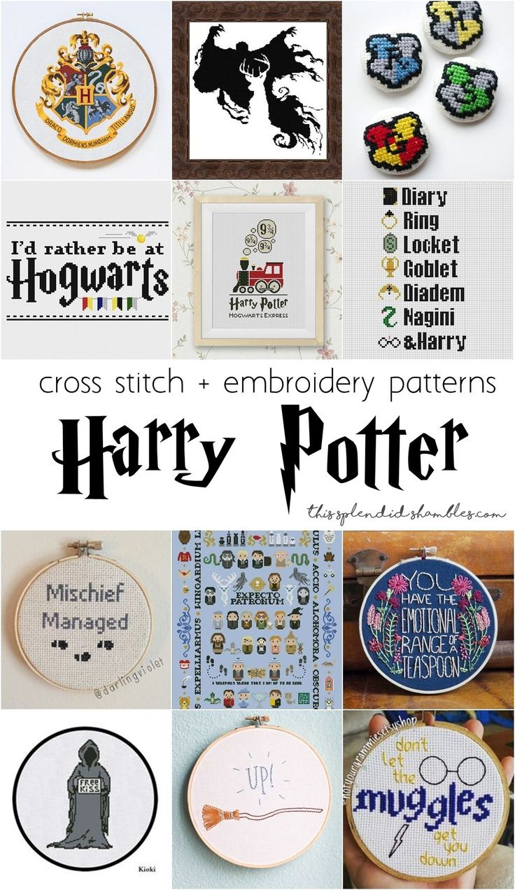 1375 best embroidery patterns images on pinterest embroidery get out your needle and thread and get to creating some of these super awesome hogwarts cross stitch patterns in celebration of september bankloansurffo Image collections