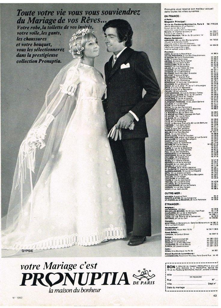 Publicité Advertising 1971 Robe DE Mariée Pronuptia | eBay