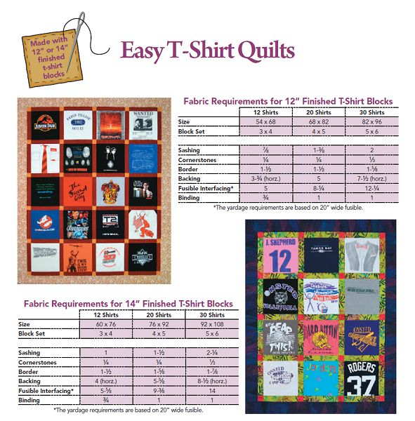Free T-Shirt Quilt Instructions | Easy T-Shirt Quilts