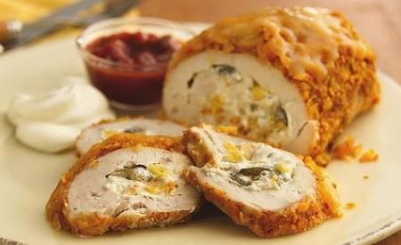 Rollos de pechuga de pollo con queso, enviados por Yasmin