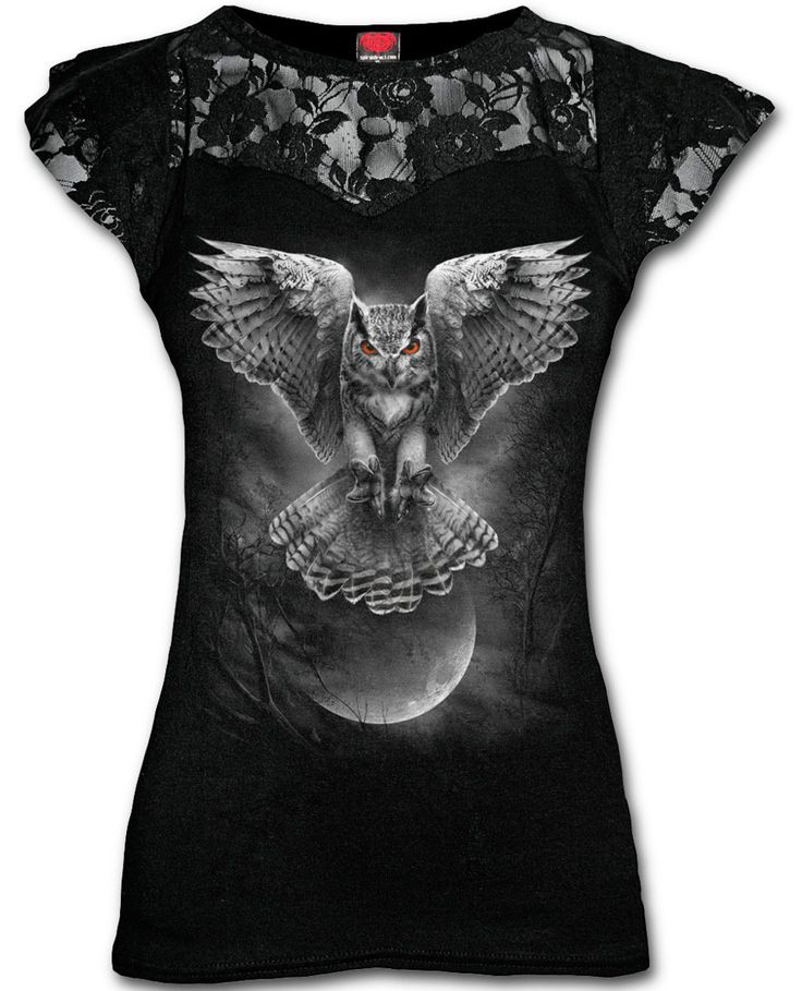 Camiseta Wings of Wisdom  #spiral #direct #ropa #gotica #gothic #clothing #buhos #owls #xtremonline