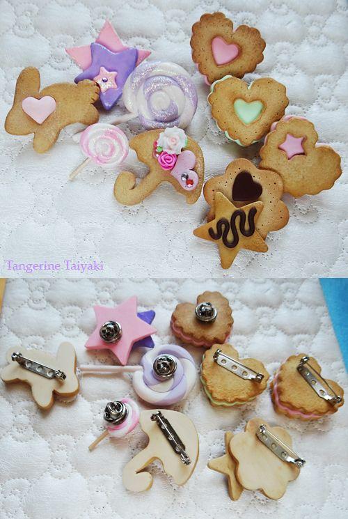 Tangerine Taiyaki: Craft Post- Sweet Lolita Brooches