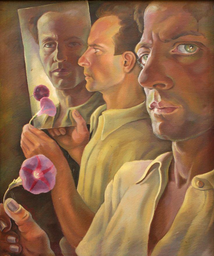Karl Hübner / Карл Хюбнер (1902-1981) Румыния. Тройной автопортрет. 1936.