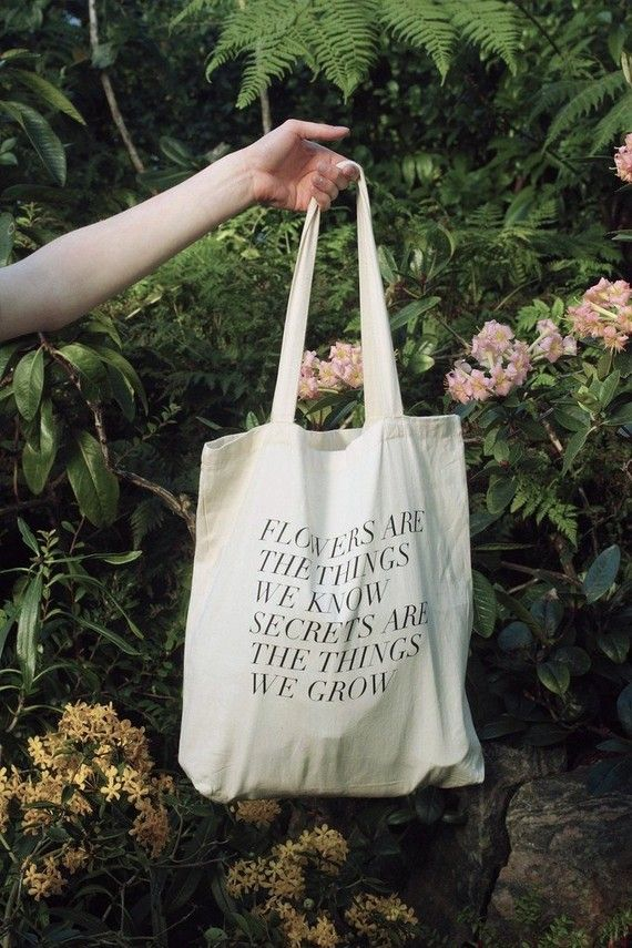 secrets are the things we grow tote by fieldguided on Etsy, $20.00