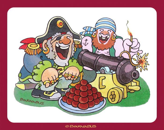 © Barnabus - #Piraci na opakowanie pączków ▪ #Pirates for packaging of donuts.