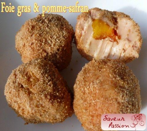 truffe de foie gras pomme et safran