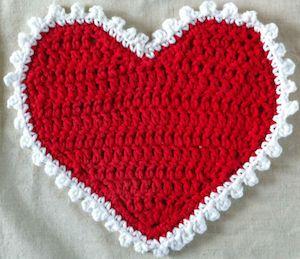 Heart Dishcloth FREE Crochet Pattern