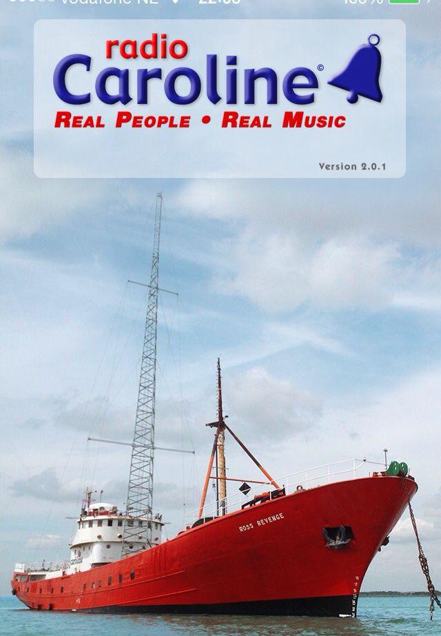 Radio Caroline!  The original pirate radio station