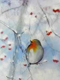 Risultati immagini per acquerelli paesaggi invernali