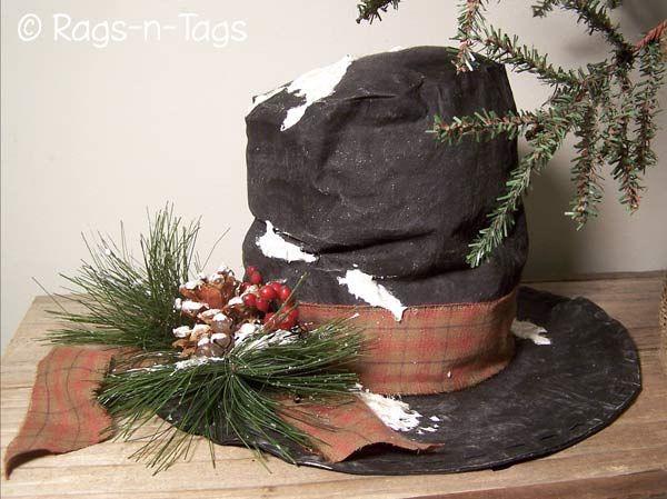 Frosty's Hat Pattern & E-Pattern: Hats Patterns, Crafts Patterns, Frosty Hats, Primitive Crafts, Primitive Christmas, Christmas Primitive, Primitive Patterns, Christmas Decor, Snowman Hats