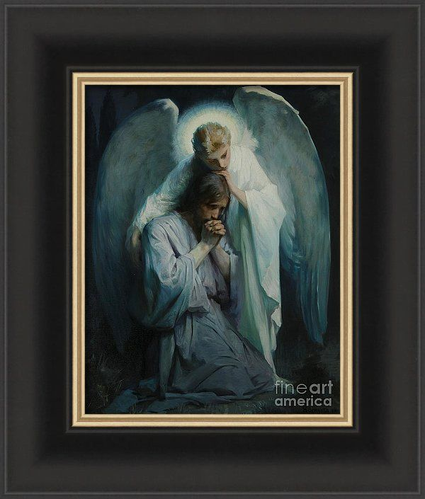 Frans Schwartz Art Print Featuring The Painting Agony In The