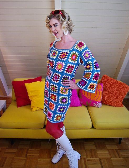 Granny square dress.