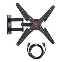 "ECHOGEAR Full Motion Articulating TV Wall Mount Bracket for most 26-50 inch LED, LCD, OLED and Plasma Flat Screen TVs w/ VESA patterns up to 400 x 400 - 16"" Ext Arm - Includes 6' HDMI Cable - EGMF1-BK http://themarketplacespot.com/wp-content/uploads/2015/11/511yhuluhQL-200x200.jpg   Featuring up to 180° of smooth swiveling capability, this medium full-motion TV mount is a real mover... not a shaker. Safety tested and UL Certified to hold up to 60 lbs, you can rest assured yo"