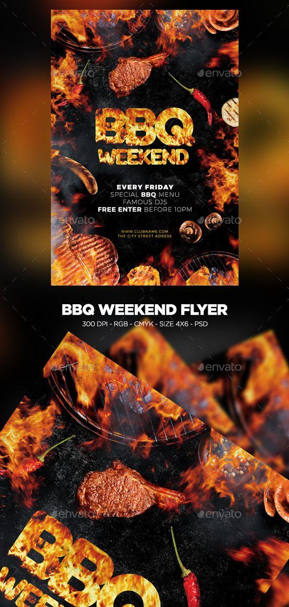 bbq weekend flyer template psd download flyer templates