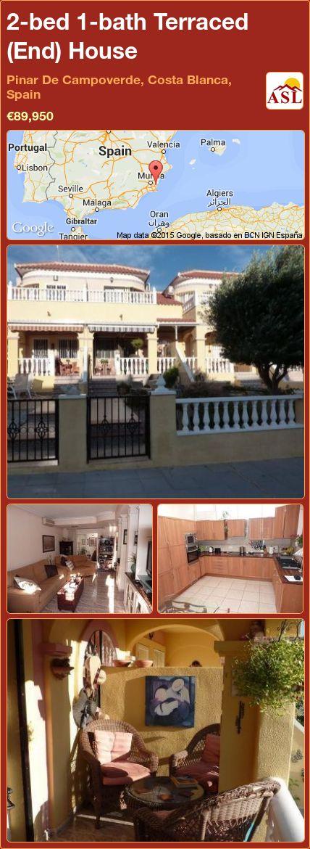 2-bed 1-bath Terraced (End) House in Pinar De Campoverde, Costa Blanca, Spain ►€89,950 #PropertyForSaleInSpain