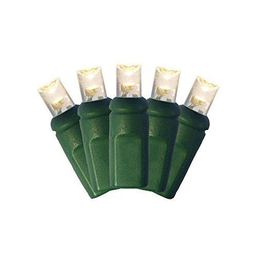 Warm White LED 5MM Mini Christmas Lights, Professional Grade, Set of 50 Bulbs