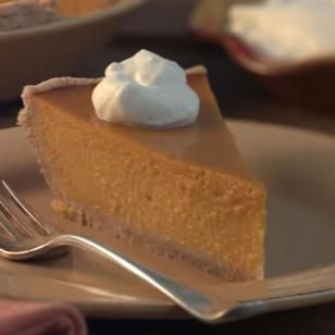 Squash Pie~ Try this custard pie with buttercup squash, a sweet, orange-fleshed variety that bakes up luscious, light and surprisingly creamy. Roasted fresh squash has a vibrant color and full flavor, but to save time you can use frozen or canned squash