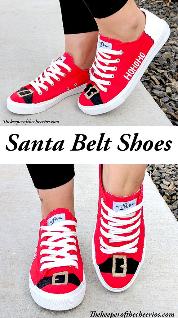 Christmas Shoes Diy.Diy Santa Belt Shoes The Keeper Of The Cheerios Crafts
