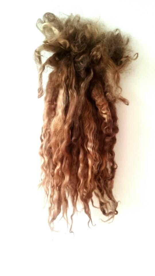 Strand Blonde - dolls haren, wol voor spinnen, Lincoln longwool super lange sluizen reroot poppen pruik, blythe, waldorf pop haren, natuurlijke toy
