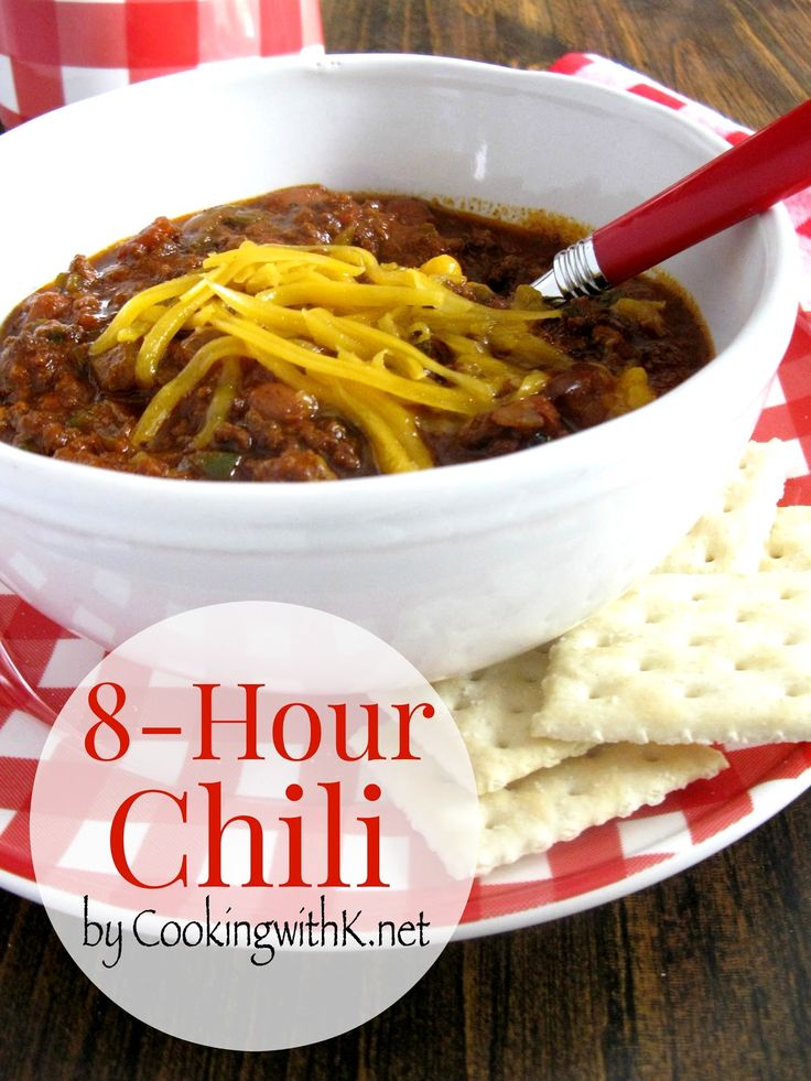 Blue Ribbon 8-Hour Chili  This chili recipe has won 3 chili off's!  #cookingwithk