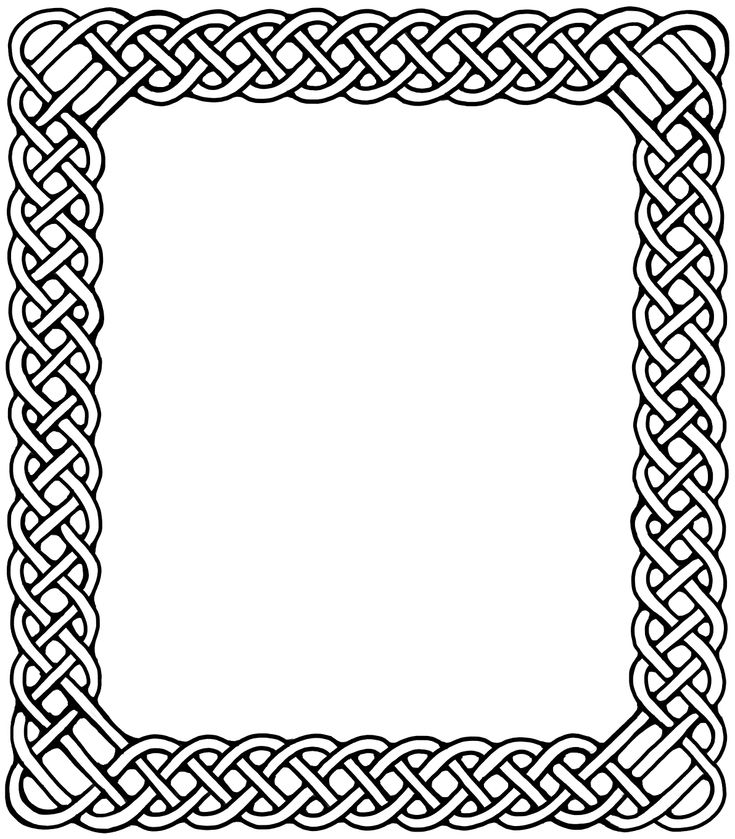 Celtic knot knotting border, Fantasy Watkanjewel.com