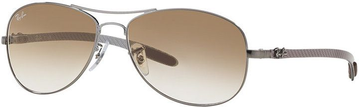 Ray-Ban Polarized Sunglasses, RB8301 59 Carbon Fibre