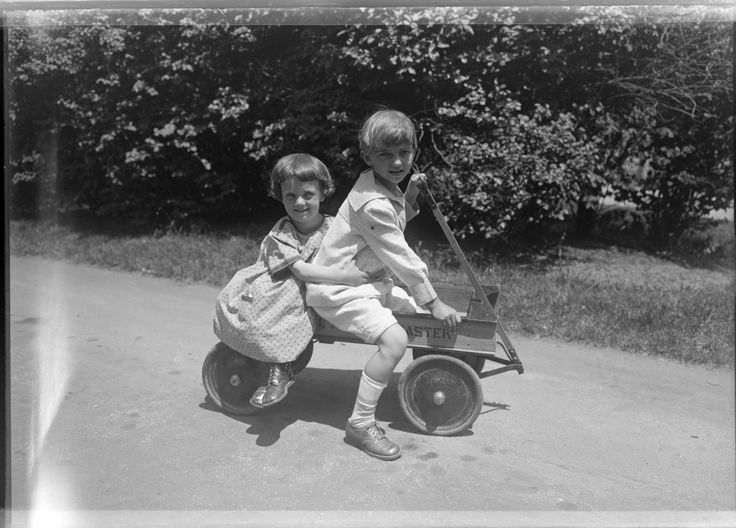 For the staff at the UWM Archives, summer is a time for tackling those large processing projects, planning classes for the fall, and working with the hordes of PhD students that descend once summer break arrives.Nevertheless, we still love to get outside on the weekends and enjoy the Milwaukee summer, like these two children!Boy and girl in a toy wagon, 1926 :: Milwaukee Polonia Digital Collection