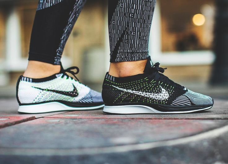 Nike Flyknit Racer - Black/White/Volt - 2016 (by chmielna20)  Get them here: Nike.com / Sneakersnstuff / Overkill / End Clothing / Find more shops
