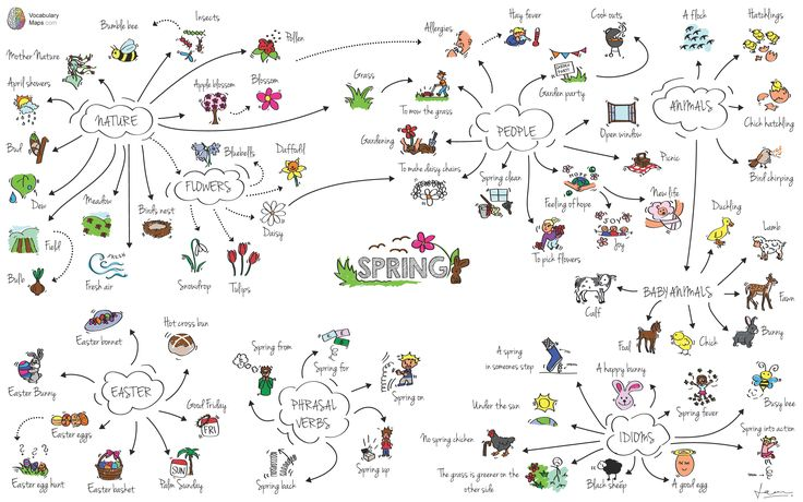 Spring mindmap vocabulary